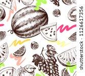 decorative seamless pattern... | Shutterstock .eps vector #1126617356
