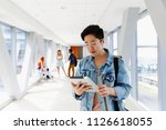 a young student from asia... | Shutterstock . vector #1126618055