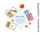 packaging of meals in advance... | Shutterstock .eps vector #1126619918