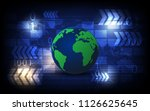 vector digital modern high... | Shutterstock .eps vector #1126625645