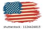 vector american flag in retro... | Shutterstock .eps vector #1126626815