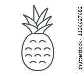 pineapple thin line icon  fruit ... | Shutterstock .eps vector #1126627682