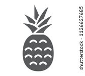pineapple glyph icon  fruit and ... | Shutterstock .eps vector #1126627685