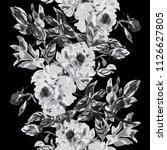 elegant seamless pattern with... | Shutterstock .eps vector #1126627805