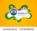 indian independence day holiday ... | Shutterstock .eps vector #1126628636