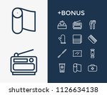camping icon set and gadgets...