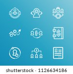 hr icon set and diversity of...
