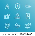 security icon set and online...