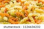 multicolor raw pasta close up.... | Shutterstock . vector #1126636232