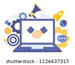 vector creative illustration of ... | Shutterstock .eps vector #1126637315