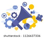 vector creative illustration of ... | Shutterstock .eps vector #1126637336