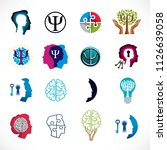 psychology  human brain ... | Shutterstock .eps vector #1126639058