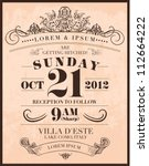 save the date wedding... | Shutterstock .eps vector #112664222