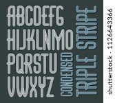 vector funky capital english... | Shutterstock .eps vector #1126643366