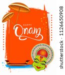 happy onam background south... | Shutterstock .eps vector #1126650908