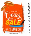 happy onam sale background... | Shutterstock .eps vector #1126650956