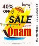 happy onam sale background...   Shutterstock .eps vector #1126650965