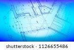 architecture design  blueprint... | Shutterstock .eps vector #1126655486
