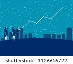 business people and forecasting ... | Shutterstock .eps vector #1126656722