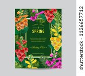 wedding invitation template... | Shutterstock .eps vector #1126657712