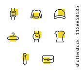 clothing icons set with tie ...