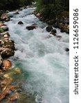 mountain river in abkhazia ... | Shutterstock . vector #1126659086
