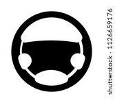 car steering wheel symbol.... | Shutterstock .eps vector #1126659176