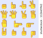 hand icon sett | Shutterstock .eps vector #112665962