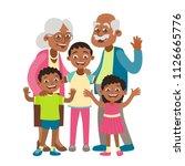 african american grandparents ... | Shutterstock .eps vector #1126665776