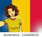 asian woman taking selfie photo ... | Shutterstock .eps vector #1126668152