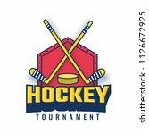 vector illustration of hockey... | Shutterstock .eps vector #1126672925