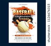 creative baseball championship...   Shutterstock .eps vector #1126676315