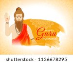 guru purnima celebration... | Shutterstock .eps vector #1126678295