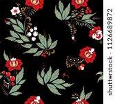 stock vector seamless flower ... | Shutterstock .eps vector #1126689872