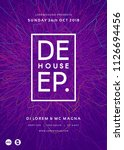 club party poster template.... | Shutterstock .eps vector #1126694456