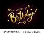 happy birthday card  banner.... | Shutterstock .eps vector #1126701608
