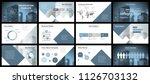 business presentation templates.... | Shutterstock .eps vector #1126703132