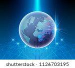 global world map cyber line... | Shutterstock .eps vector #1126703195