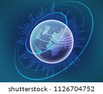 global world map cyber line... | Shutterstock .eps vector #1126704752