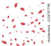 abstract flower petals confetti ... | Shutterstock .eps vector #1126707758