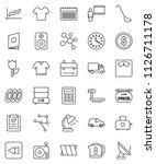 thin line vector icon set  ... | Shutterstock .eps vector #1126711178