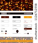 dark orange vector web ui kit...