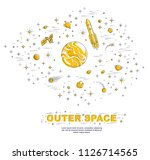 fantastic galaxy with unknown... | Shutterstock .eps vector #1126714565