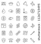 thin line vector icon set  ... | Shutterstock .eps vector #1126715495