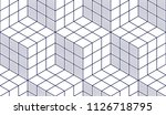 geometric cubes abstract... | Shutterstock .eps vector #1126718795