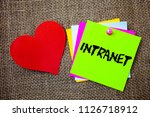 text sign showing intranet.... | Shutterstock . vector #1126718912
