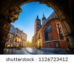 old city center view with st.... | Shutterstock . vector #1126723412