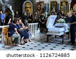 editorial use only. burial... | Shutterstock . vector #1126724885