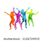 a group of happy and active... | Shutterstock .eps vector #1126724915