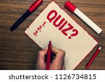 handwriting text quiz question. ... | Shutterstock . vector #1126734815